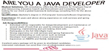 Hiring for Java Developer