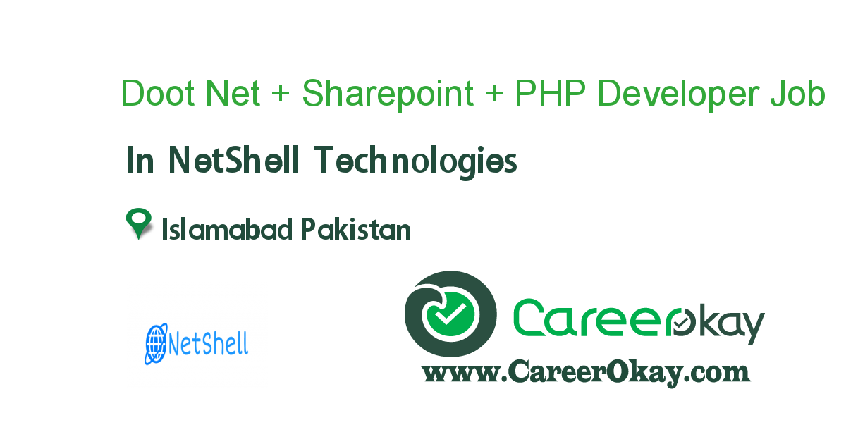 .Net + Sharepoint + PHP Developer