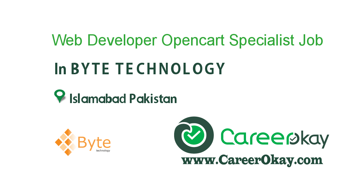 Web Developer Opencart Specialist