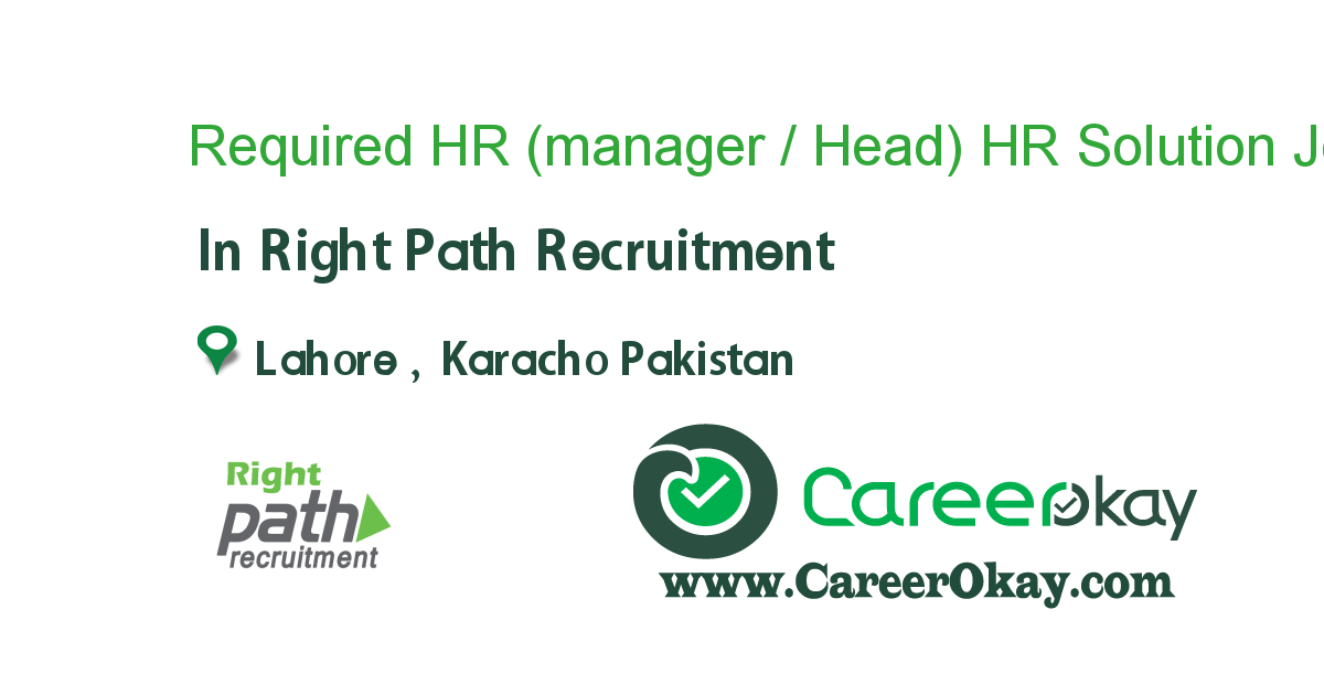 Required HR (manager / Head).