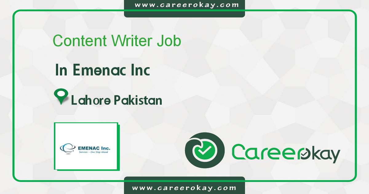 Writer Jobs in Pakistan