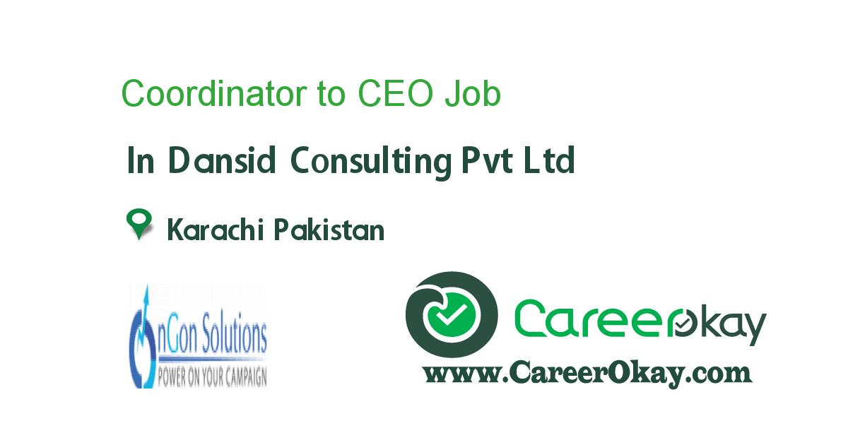 Coordinator to CEO