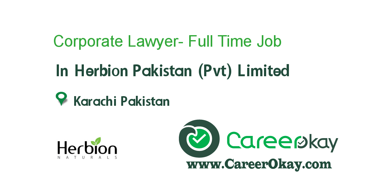 Corporate Lawyer- Full Time