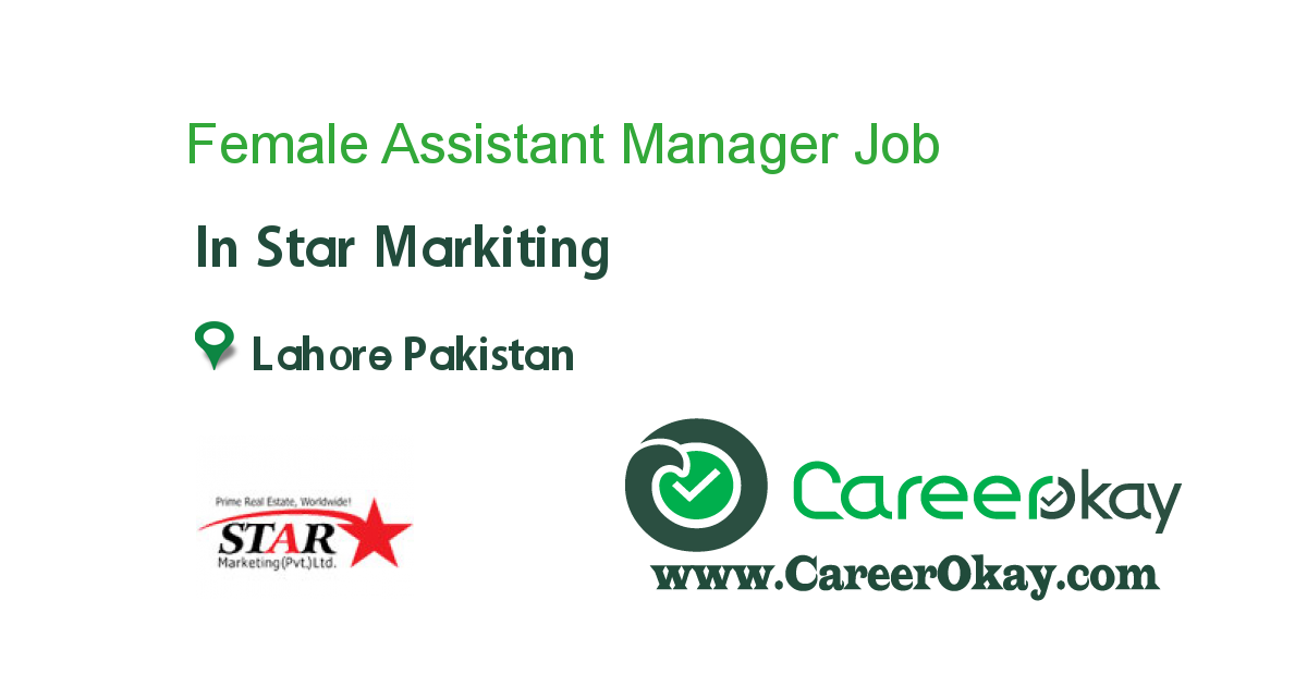 Female Assistant Manager