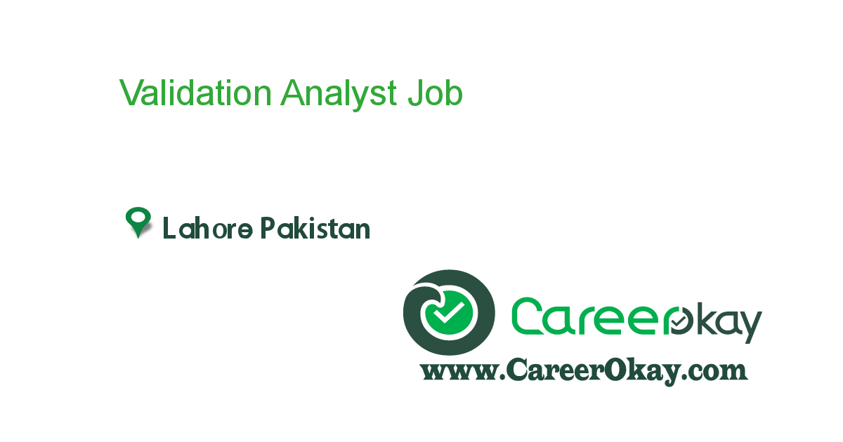 Validation Analyst