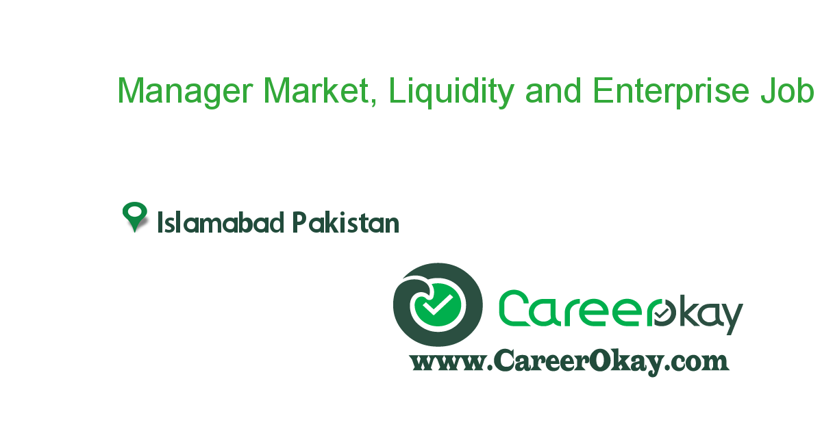Manager Market, Liquidity and Enterprise Risk