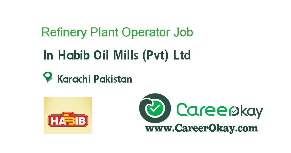 Refinery Plant Operator