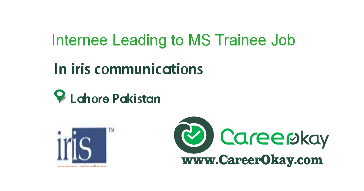 Internee Leading to MS Trainee