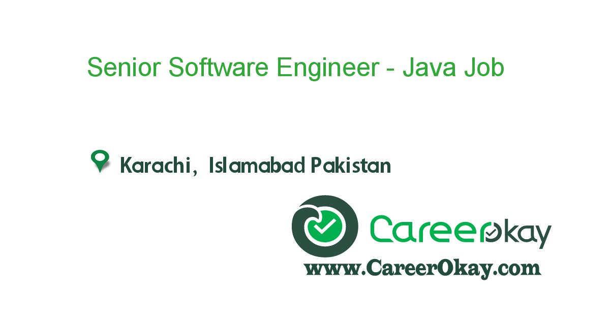 Senior Software Engineer - Java Developer