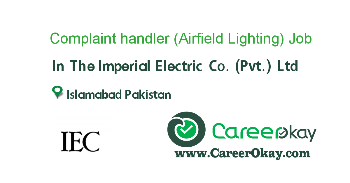 Complaint handler (Airfield Lighting)