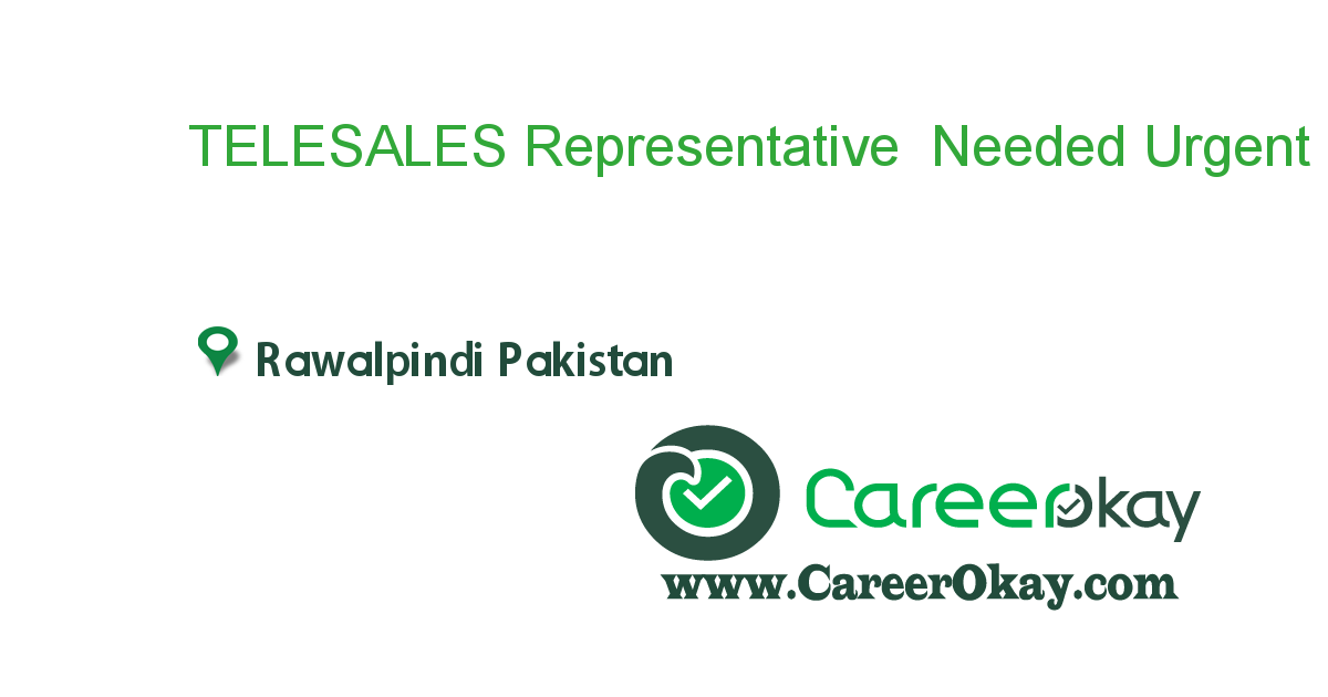 TELESALES Representative Needed Urgent