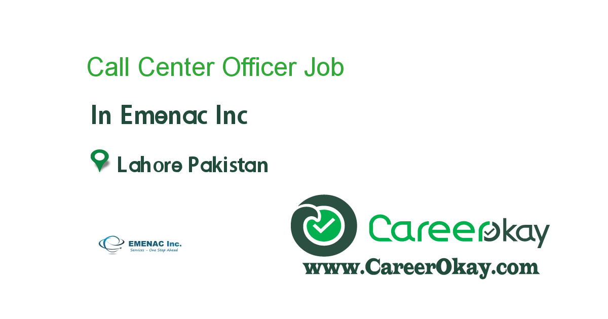 Call Center Officer