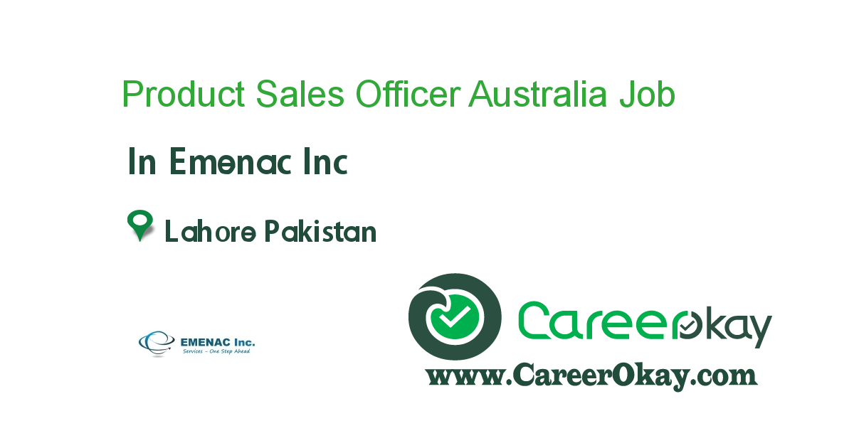 Product Sales Officer Australia