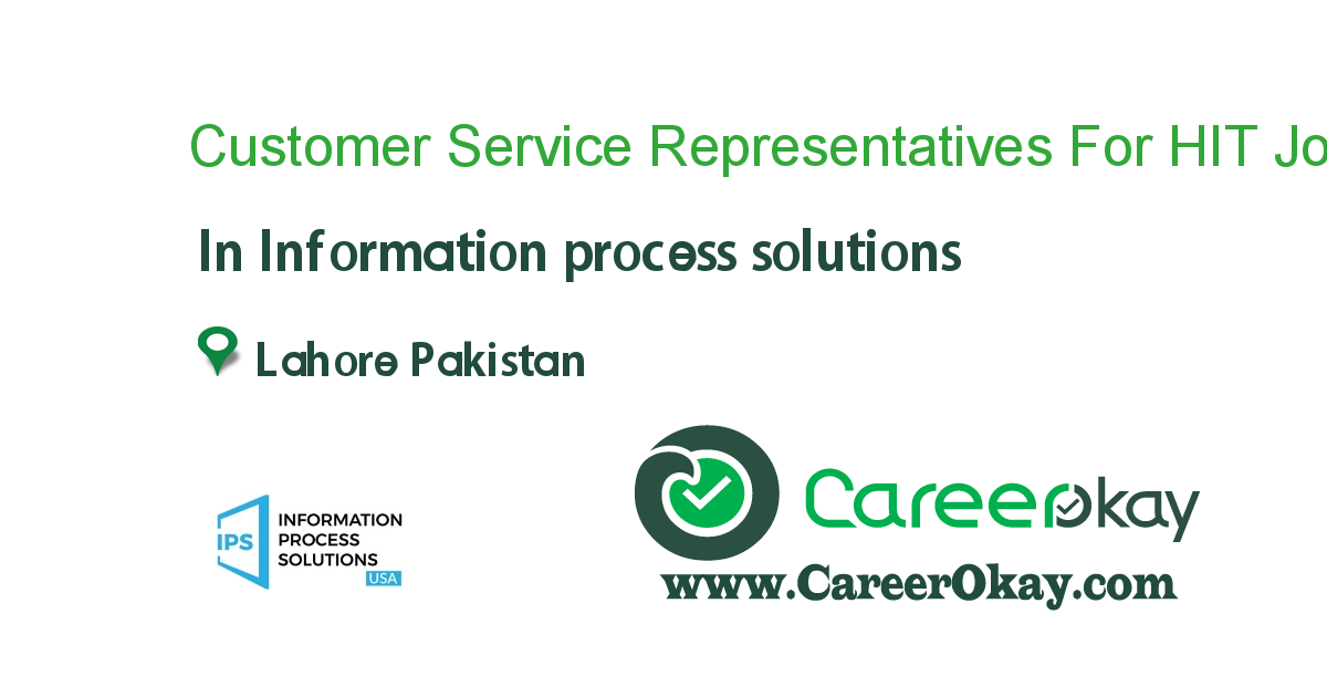 Customer Service Representatives For HIT