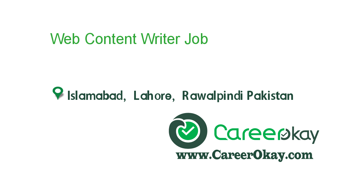 Web Content Writer