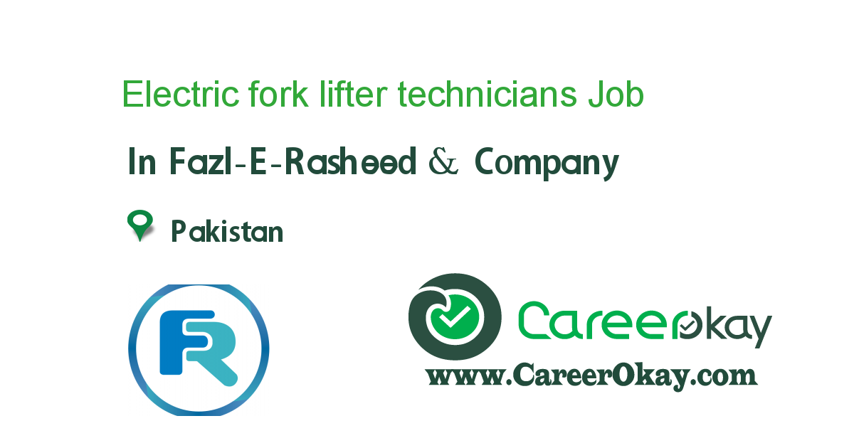 Electric fork lifter technicians