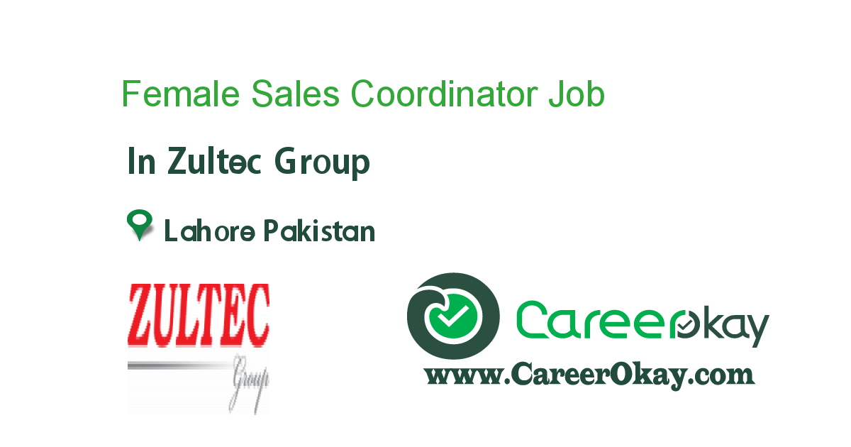 Female Sales Coordinator