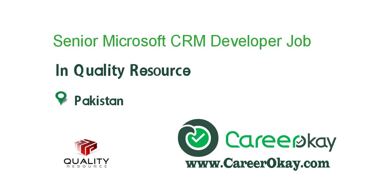 Senior Microsoft CRM Developer