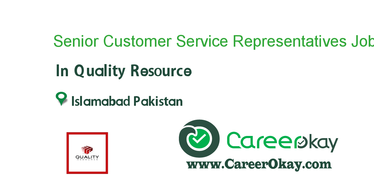 Senior Customer Service Representatives (Inbound)