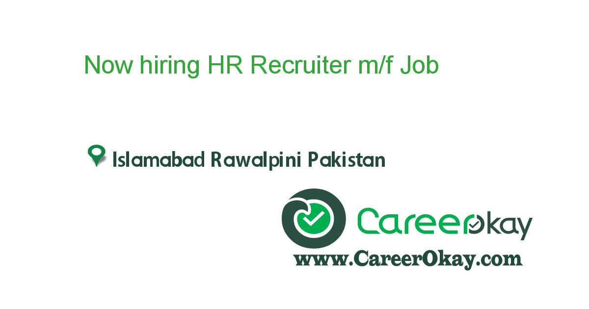 Now hiring HR Recruiter m/f