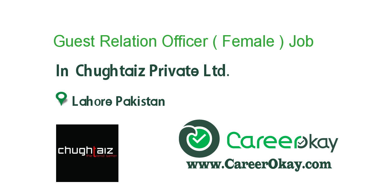 Guest Relation Officer ( Female )