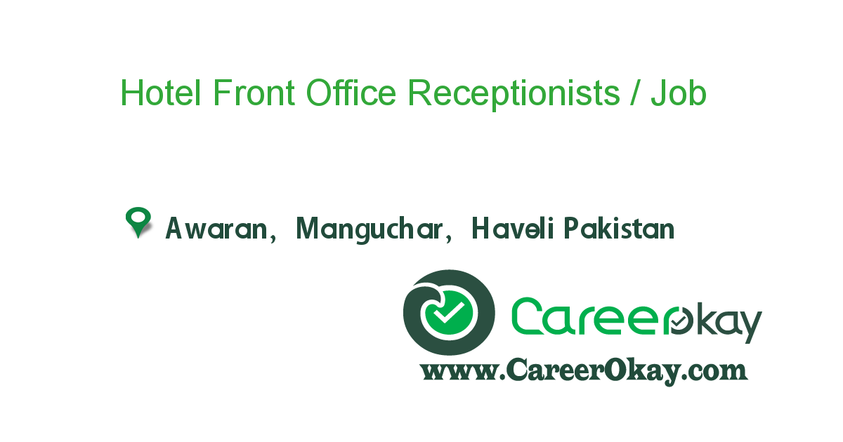 Hotel Front Office Receptionists /