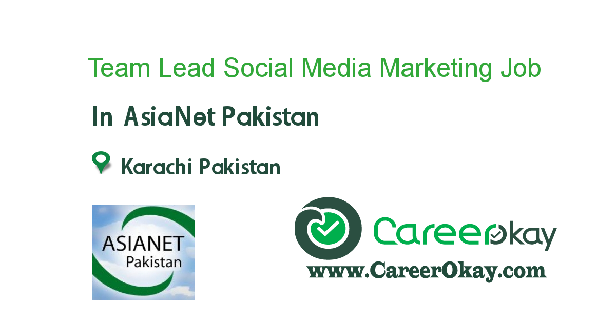 Team Lead Social Media Marketing