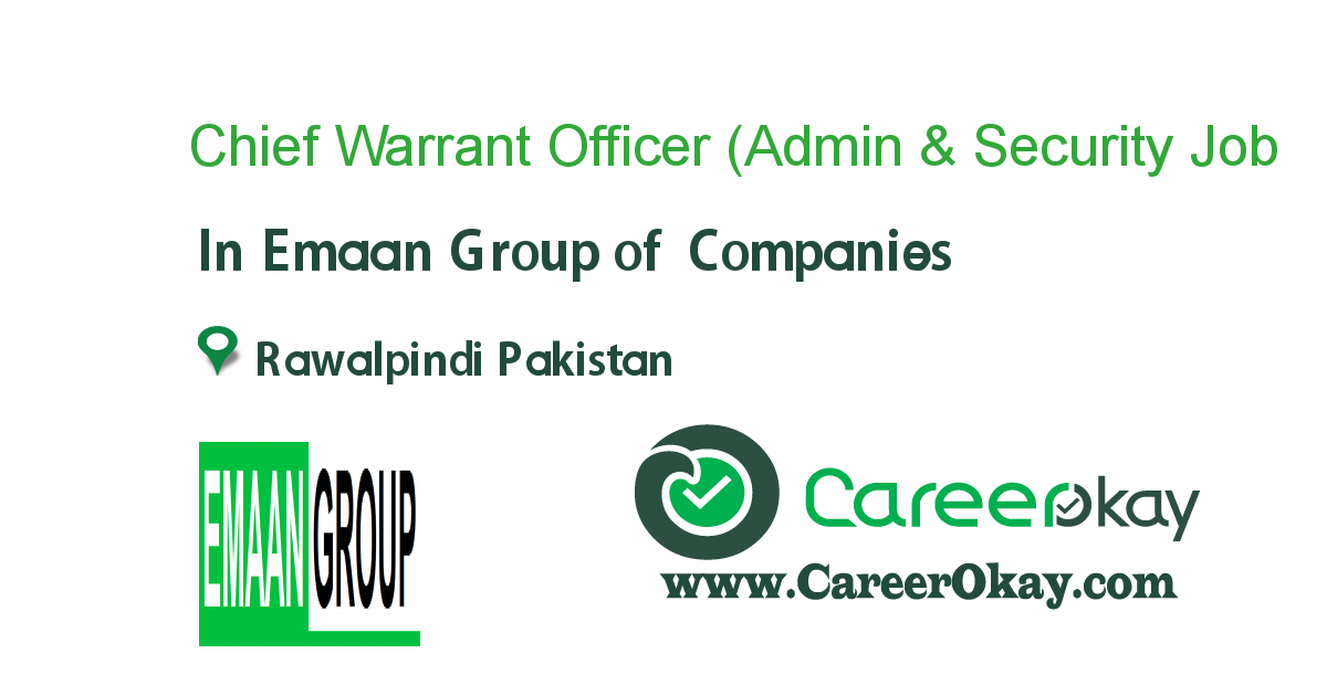 Chief Warrant Officer (Admin & Security Consultant)