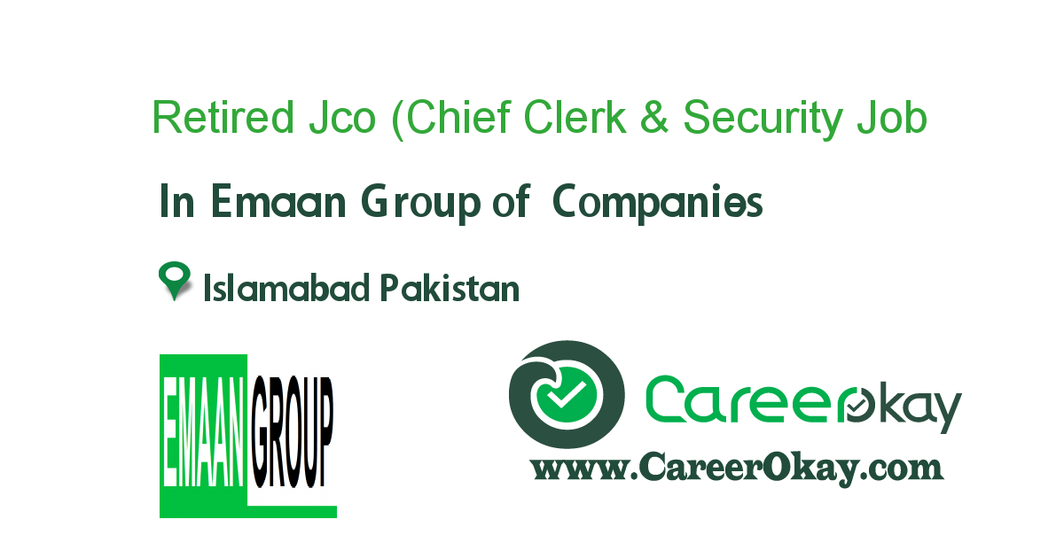 Retired Jco (Chief Clerk & Security Inspector)