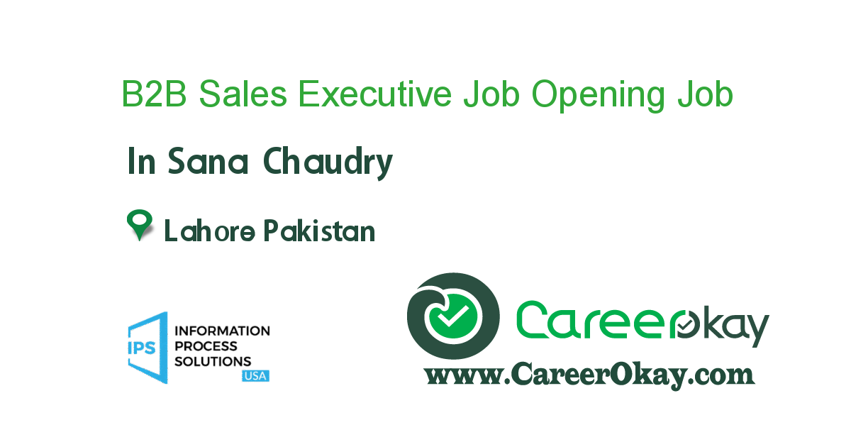 B2B Sales Executive Job Opening