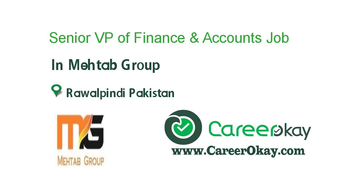 Senior VP of Finance & Accounts