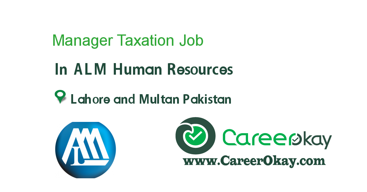 Manager Taxation