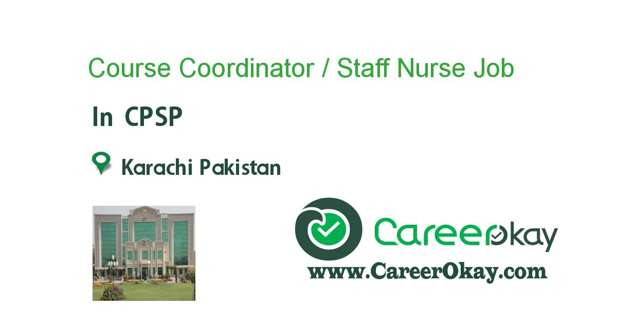 Course Coordinator / Staff Nurse (Karachi Based)