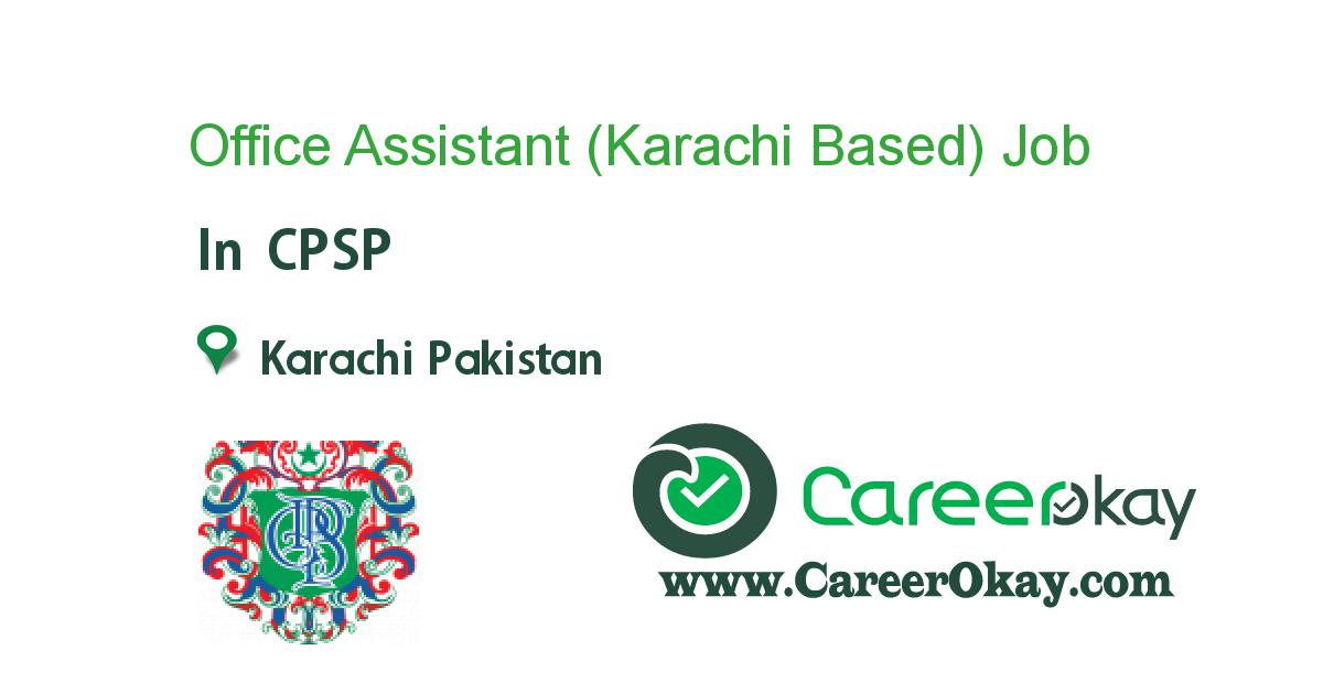 Office Assistant (Karachi Based)