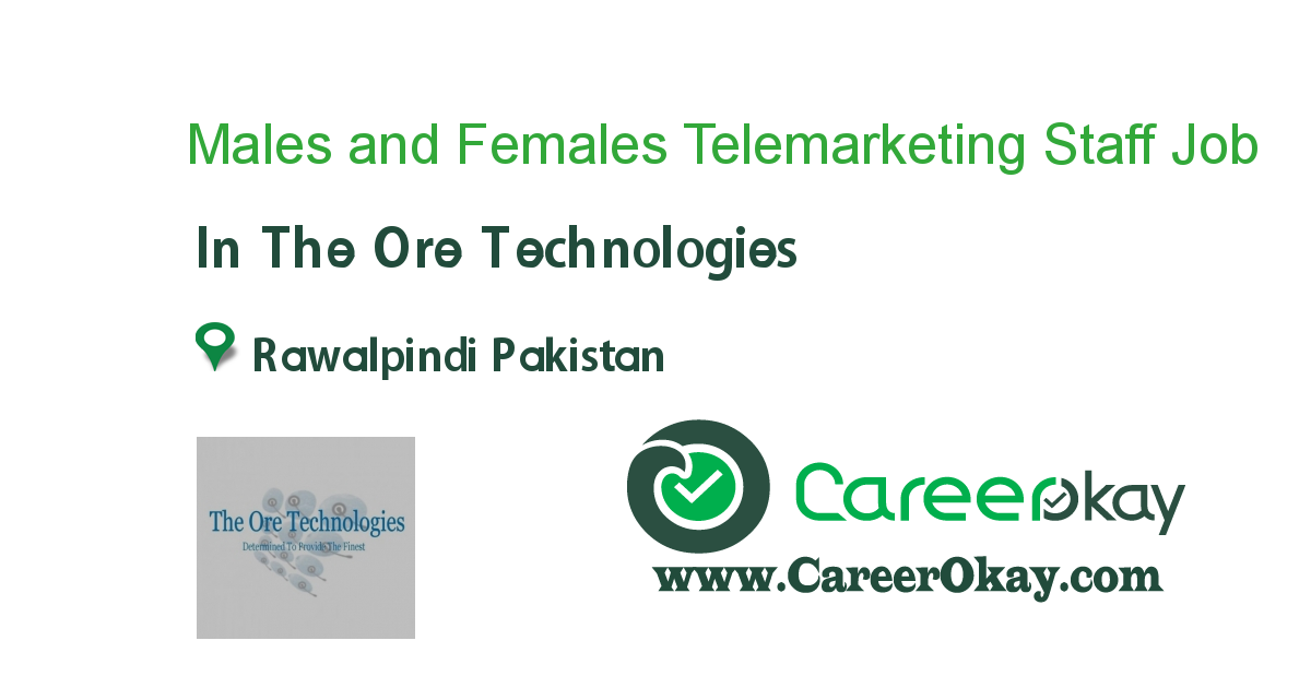 Males and Females Telemarketing Staff Required
