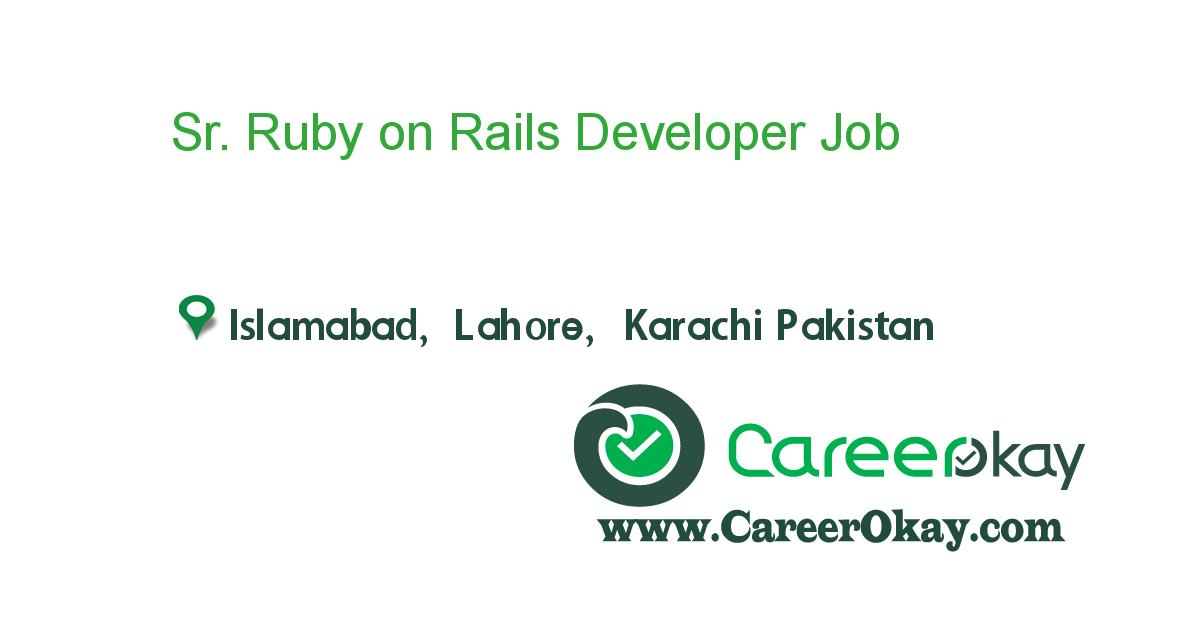 Sr. Ruby on Rails Developer