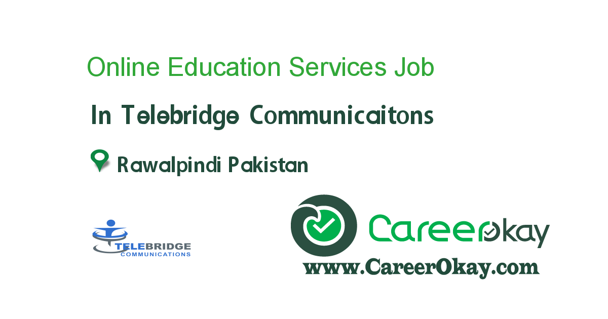 Online Education Services Representatives (Males/Females)