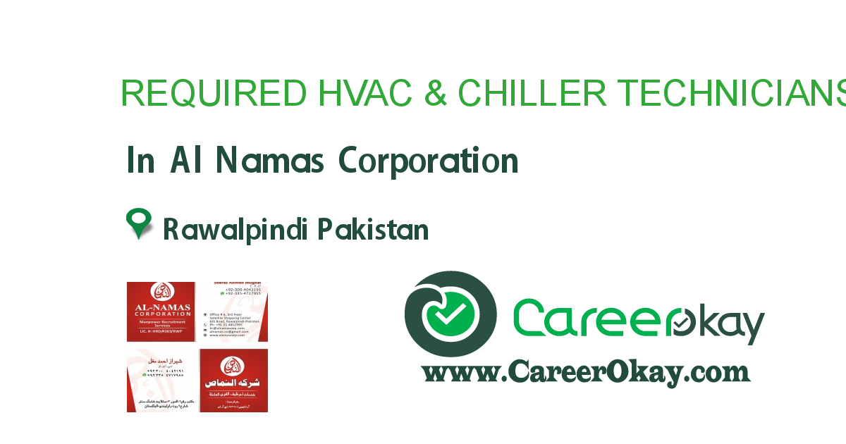REQUIRED HVAC & CHILLER TECHNICIANS