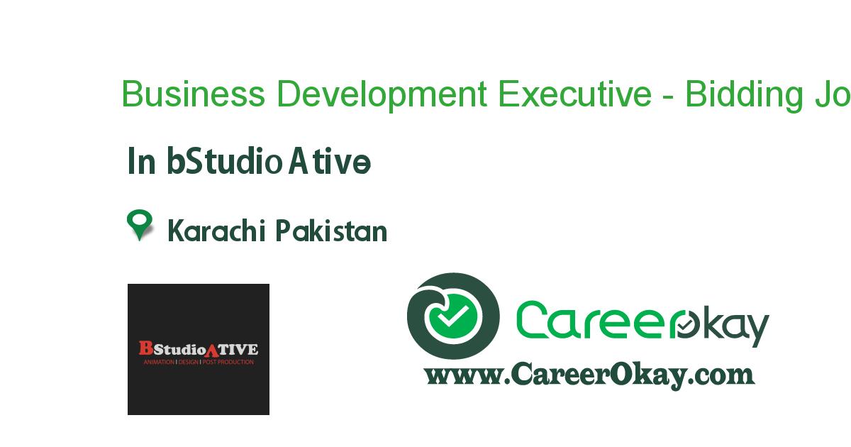 Business Development Executive - Bidding Expert