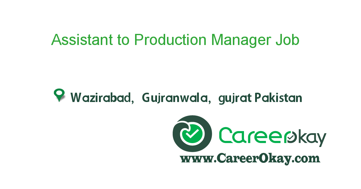 Assistant to Production Manager