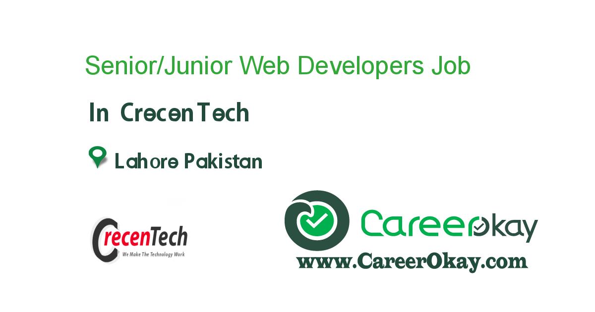 Senior/Junior Web Developers (PHP/JavaScript/AngularJS)