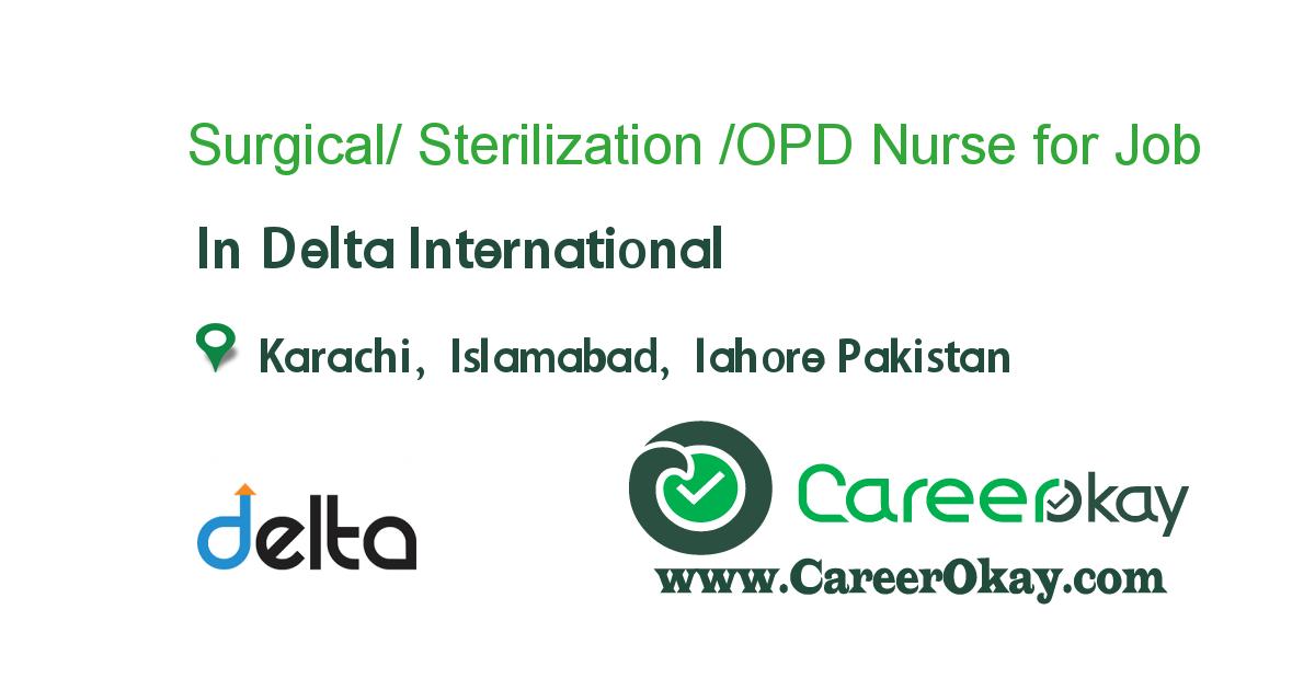 Surgical/ Sterilization /OPD Nurse for Saudi arabia