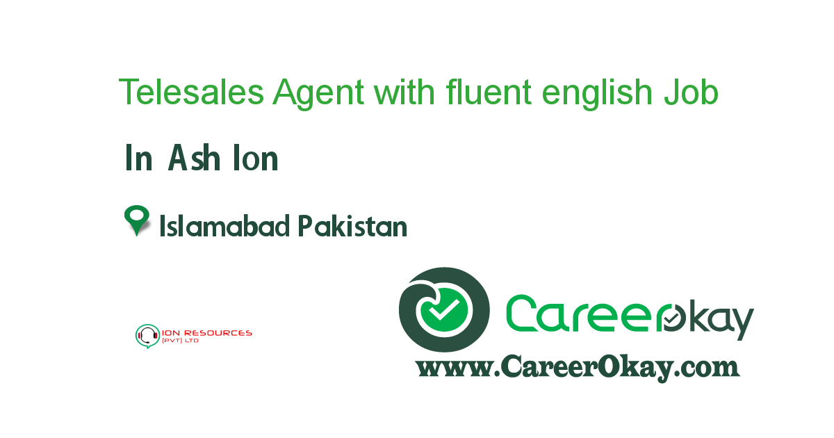 Telesales Agent with fluent english