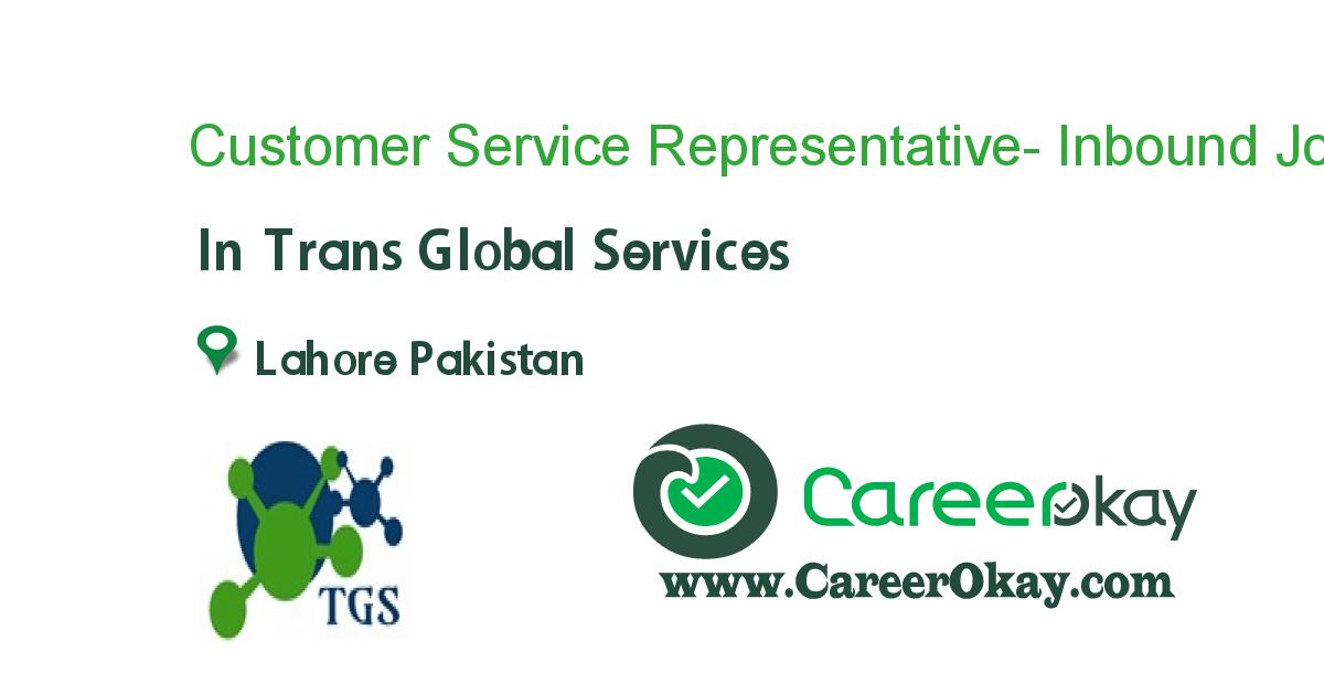 Customer Service Representative- Inbound