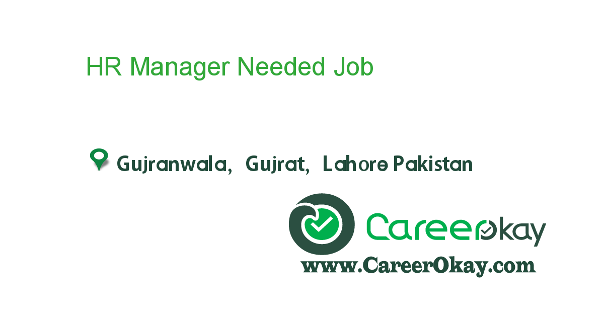 HR Manager Needed