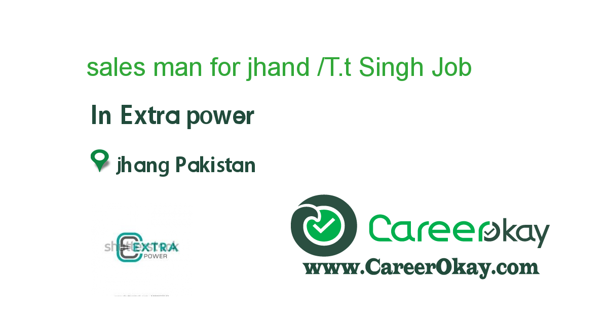 sales man for jhand /T.t Singh