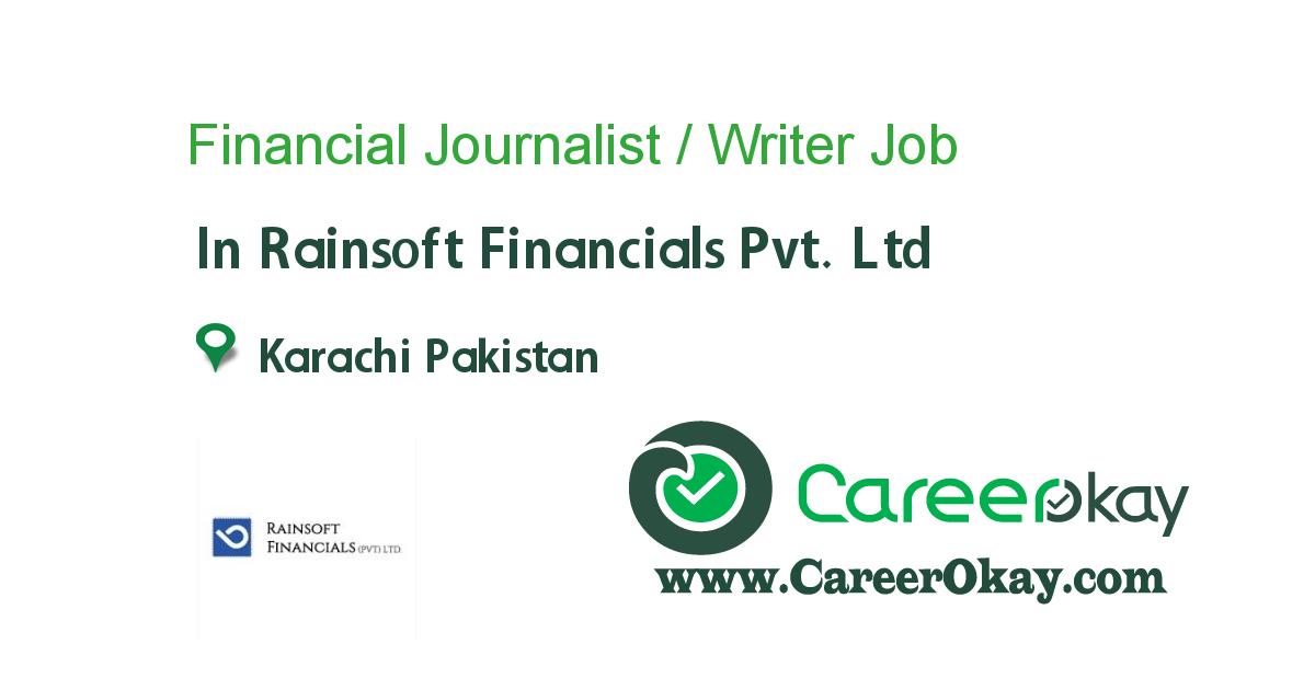 Financial Journalist / Writer