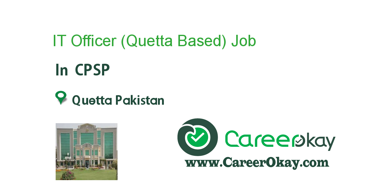 IT Officer (Quetta Based)