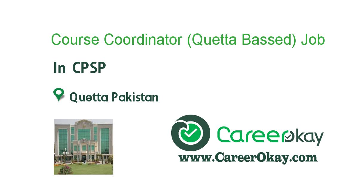 Course Coordinator (Quetta Bassed)