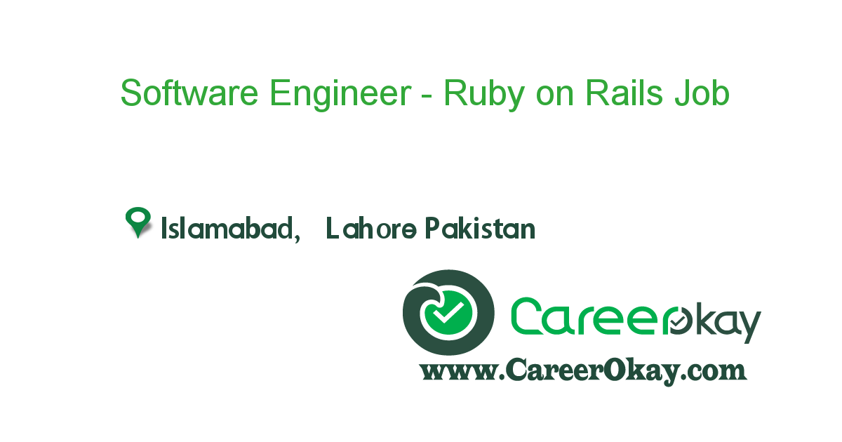 Software Engineer - Ruby on Rails